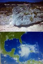 Boulders in the Jardines de la Reina archipelago: rocks to tell the future